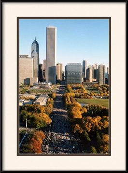 2007-lasalle-bank-marathon-looking-down-columbus-framed-picture