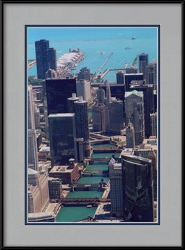 aerial-chicago-river-bridges-looking-east-framed-picture