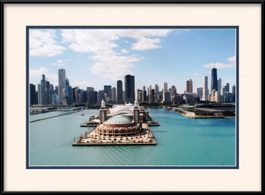 framed-print-of-navy-pier-view-from-lake-michigan