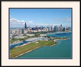 framed-print-of-beautiful-chicago-summer-day-near-northerly-island
