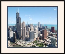 downtown-chicago-loop-area-framed-picture