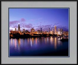 framed-print-of-chicago-skyline-at-night-dusk-shot