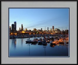 framed-print-of-burnham-harbor-and-chicago-skyline