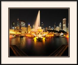 framed-print-of-buckingham-fountain-golden-view