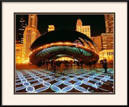 framed-print-of-light-show-at-the-bean-millennium-park