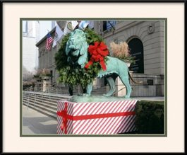 picture-of-art-institute-lion-holiday-red-bow-2012