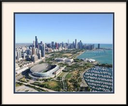 aerial-of-chicago-skyline-lakefront-framed-picture
