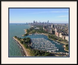 belmont-harbor-aerial-view-framed-picture