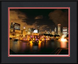 framed-print-of-blackhawks-stanley-cup-on-chicago-buildings