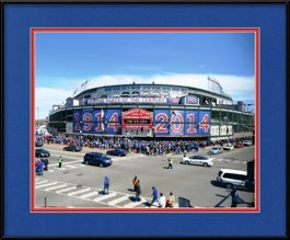 framed-print-of-wrigley-field-marquee-cubs-100th-year-celebration