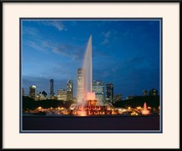 picture-of-chicago-sunset-at-buckingham-fountain
