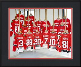 framed-print-of-blackhawks-jersey-on-display
