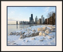 framed-print-of-frozen-ice-on-chicago-lakefront-trail