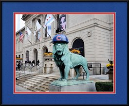 framed-print-of-art-institute-lion-sporting-flat-brimmed-cubs-hat