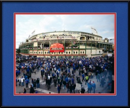 framed-print-of-chicago-cubs-stadium-outside-wrigley-field-for-world-series