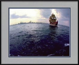 columbus-discovering-chicago-framed-picture