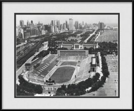 framed-print-of-vintage-soldier-field-black-white-historical-chicago-bears