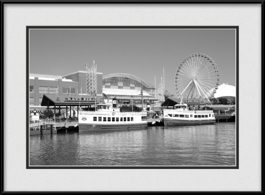 picture-of-black-white-navy-pier-cruise-ships