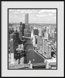 framed-print-of-trump-tower-chicago-black-white