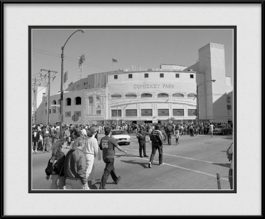 framed-print-of-comiskey-park-black-white