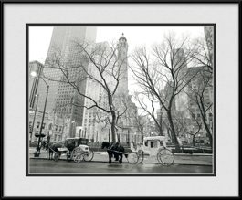 water-tower-with-horse-carriage-framed-picture