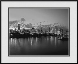 picture-of-chicago-lakefront-skyline-black-and-white