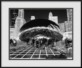 the-bean-light-show-black-white-framed-picture