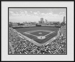 framed-print-of-wrigley-field-ballpark-black-white