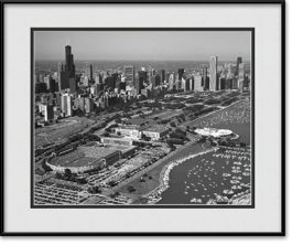 black-white-solider-field-aerial-framed-picture
