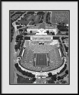 framed-print-of-black-white-aerial-of-bears-stadium