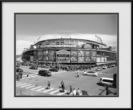 picture-of-100-years-on-wrigley-field-marquee-black-white