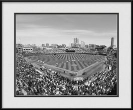 framed-print-of-cubs-100th-year-celebration-inside-ballpark