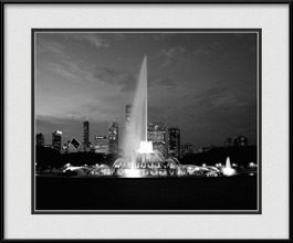 framed-print-of-buckingham-fountain-at-dusk