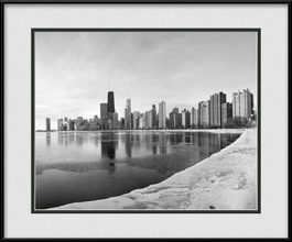 framed-print-of-winter-day-in-chicago