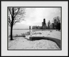 framed-print-of-cold-chicago-winter-morning