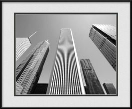 framed-print-of-downtown-chicago-skyscapers
