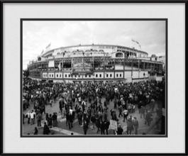 framed-print-of-historic-view-of-chicago-cubs-stadium-during-world-series-black-white