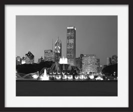 framed-print-of-buckingham-fountain-late-night