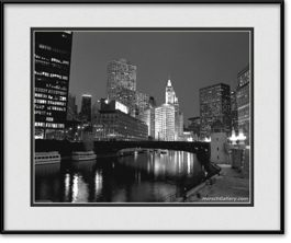 framed-picture-of-chicago-river-wrigley-building