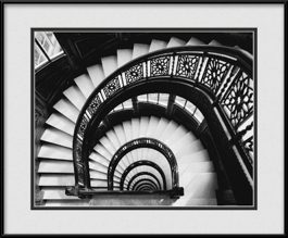 the-rookery-building-winding-staircase-framed-picture