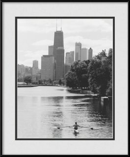 framed-print-of-lincoln-park-lagoon-black-white