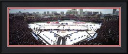 framed-print-of-panoramic-of-2009-winter-classic-at-wrigley-field