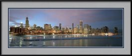 framed-print-of-2010-chicago-skyline-in-color