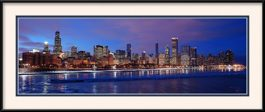 framed-print-of-2011-chicago-skyline-sunset