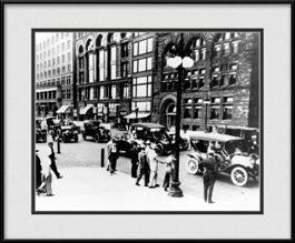 framed-print-of-street-cars-and-business-people-vintage-chicago