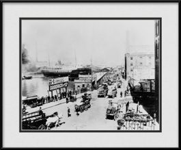 picture-of-banks-of-chicago-river-historical-chicago-print