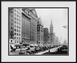 framed-print-of-michigan-avenue-looking-at-university-club