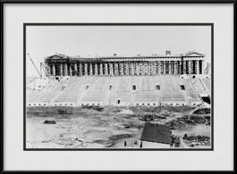 framed-print-of-old-soldier-field-stadium-early-construction-in-black-white