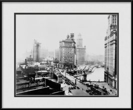 framed-picture-of-tribune-building-during-turn-of-the-century