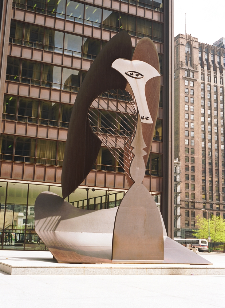 Chicago Picasso Sculpture In Daley Plaza Chicago Loop